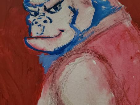 Gorilla painting