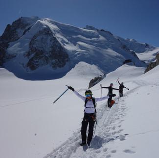 L'équipe Simond à l'Aiguille du Midi