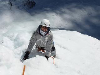 Découverte de la cascade de glace pour Kati...