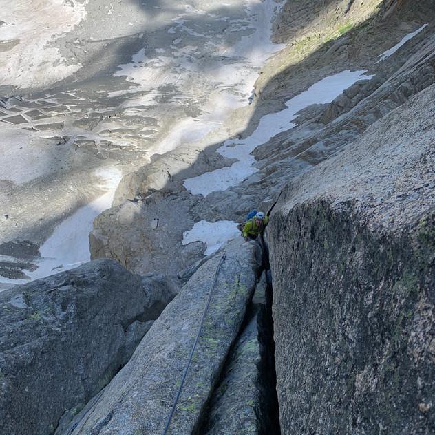 Fissures larges à Blaitière