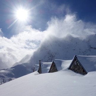 Ski touring above the clouds…