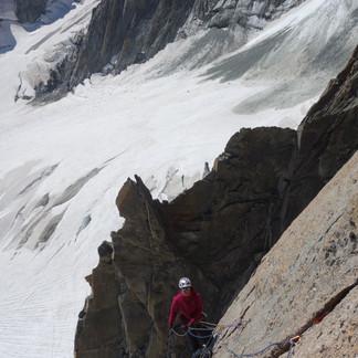 Pointes Lachenal et quelques photos des glaciers...