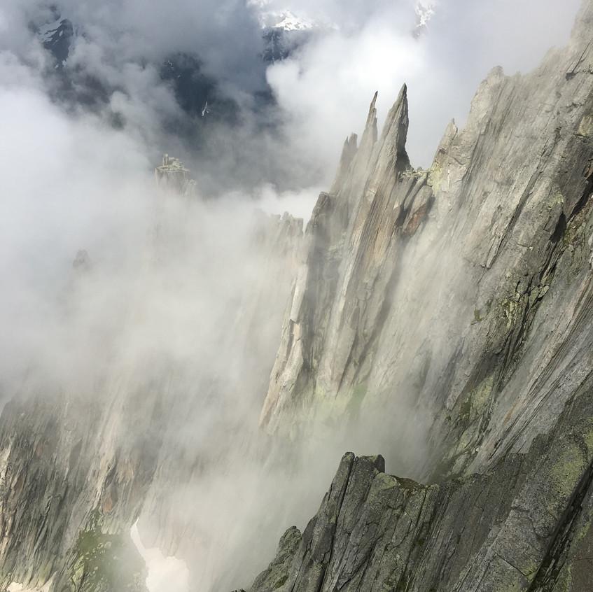 Salbitschijen, vue sur l'arête Ouest