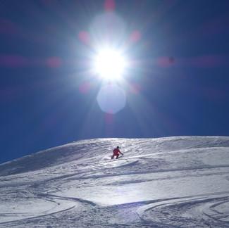 Reprise du ski de rando pour François.