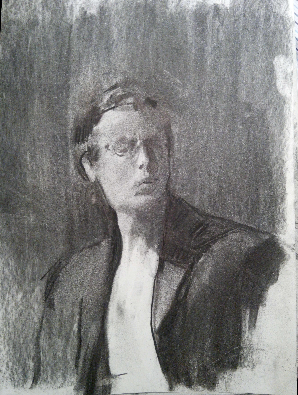 Self Portrait II / Charcoal on Paper