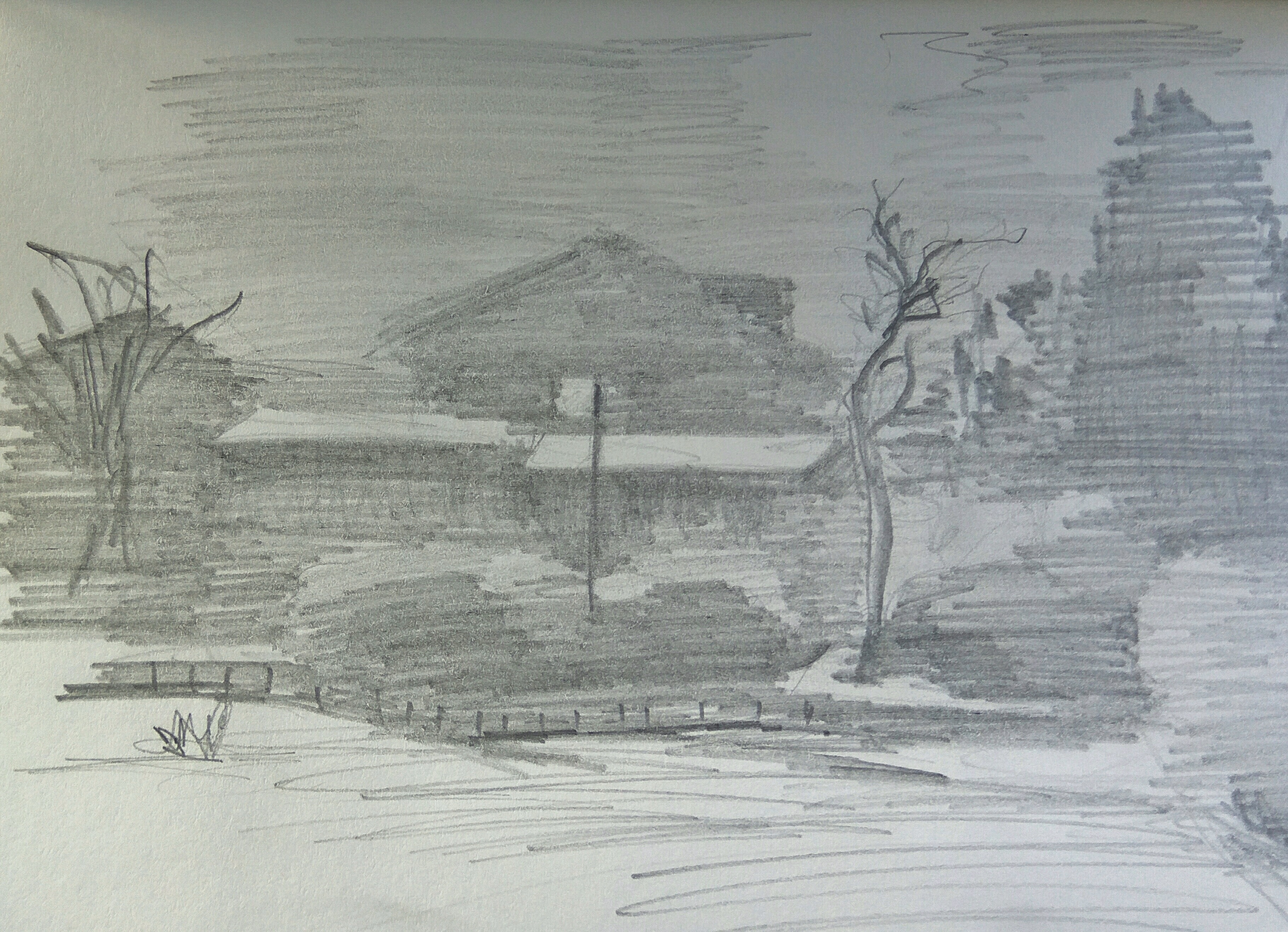Mevaseret Houses / Pencil on Paper