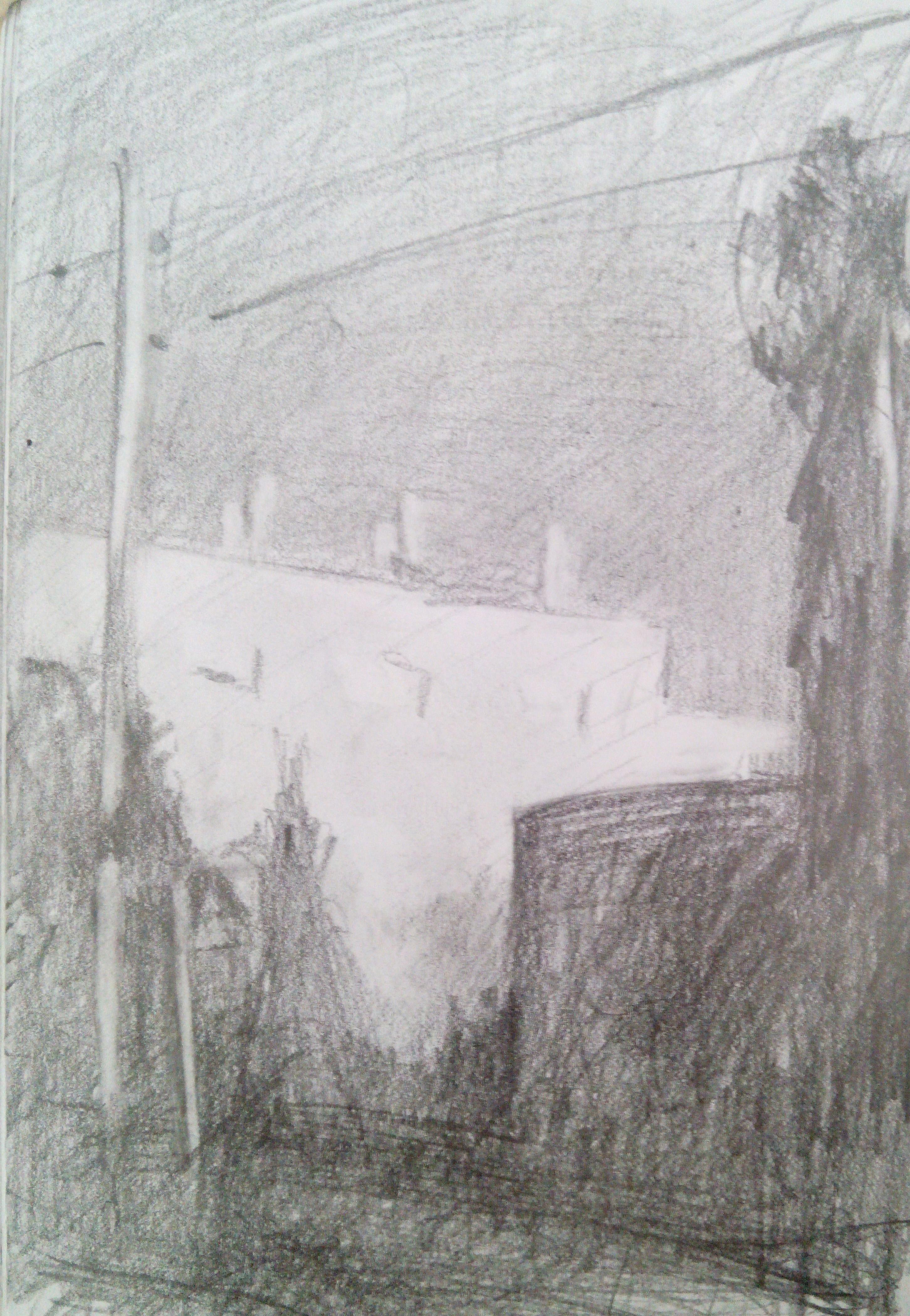 Kiryat Menahem II / Pencil on Paper