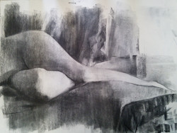 Legs Model / Charcoal on Paper