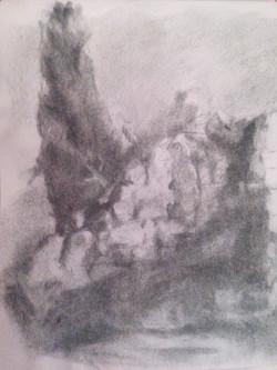 Biblical Ai II / Charcoal on Paper