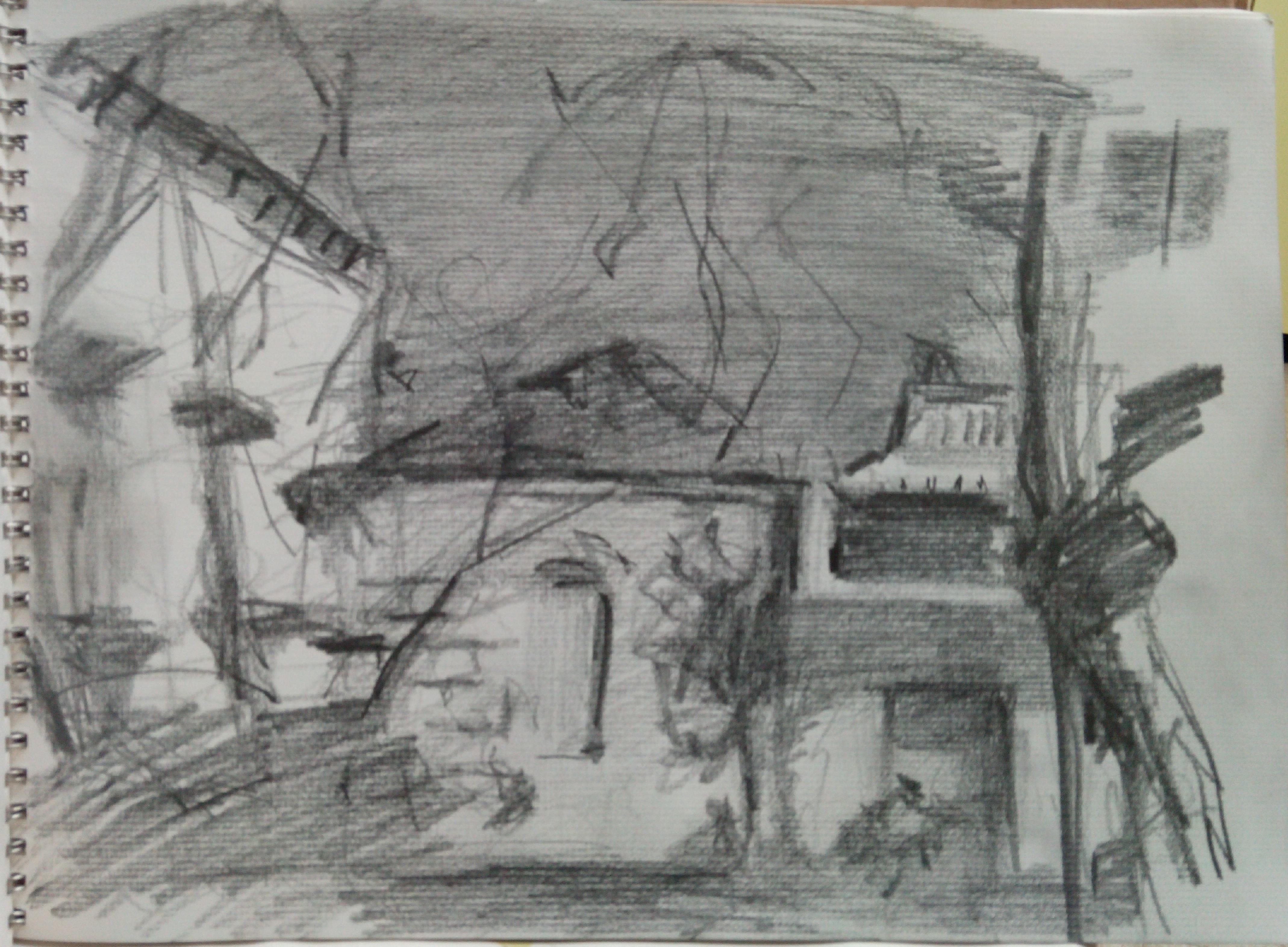 Jerusalem View / Pencil on Paper
