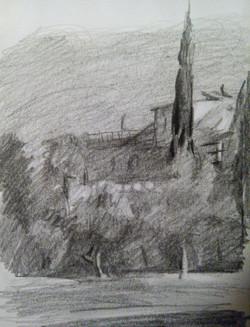 Old Jerusalem / Graphite on Paper