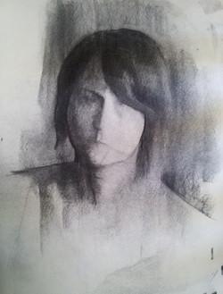 Woman Portrait / Charcoal on Paper