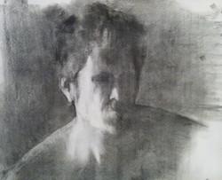Self Portrait / Charcoal on Paper