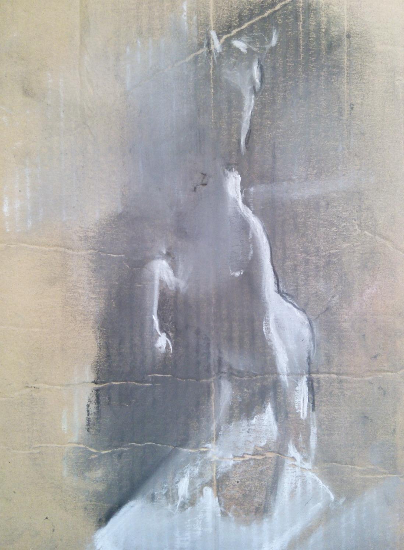 Horse / Chalk on Cardboard