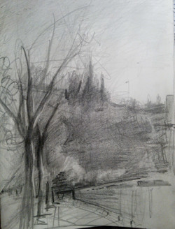 Holland Square / Graphite on Paper