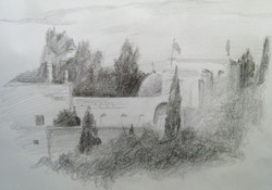 Valley of Cross / Pencil on Paper