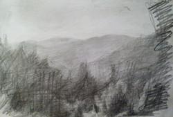 Mt. Hertzl View / Graphite on Paper