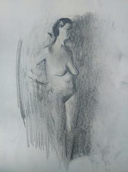Nude Model / Graphite on Paper