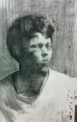 Self Portrait III / Charcoal Paper