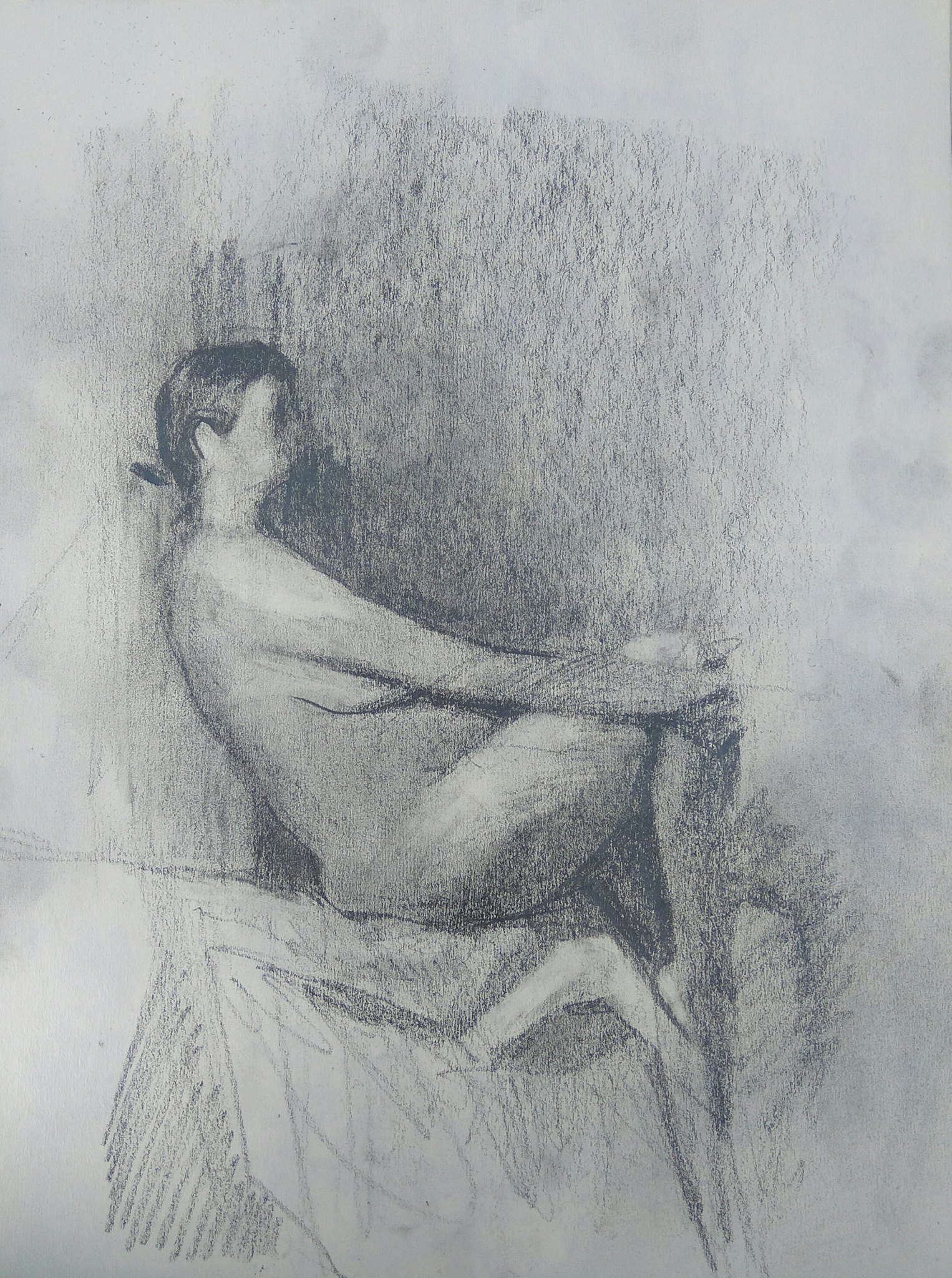 Sitting Model / Graphite on Paper