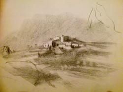 El Bireh / Charcoal on Paper