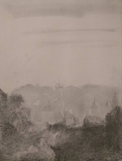 View in Lviv / Graphite on Paper