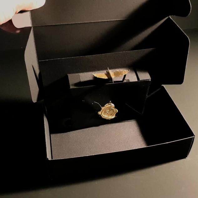 Kinetic Invite Box for secret exhibiton