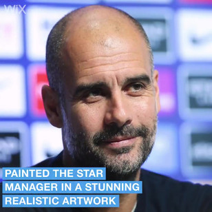 I was asked to paint Pep by Wix for Man City