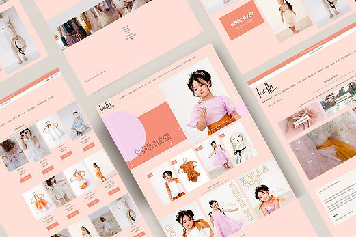 eCommerce Shopify wesbite for Luella Loves by White Pear Online