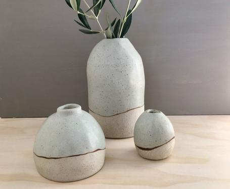 Moonah Vase & Button Vase