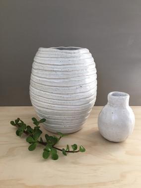 Yellow Gum Vase & Eucalypt Vase