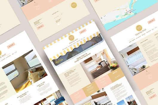 small business website for Sunny the Caravan by White Pear Online