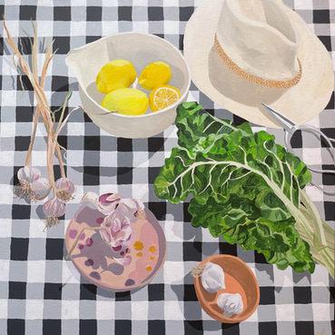 Spinach, Garlic, Lemons