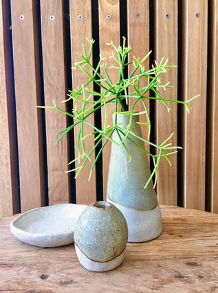 Saltbush & Button Vase