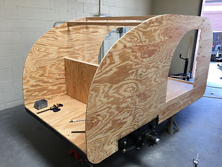 Teardrop camper trailer galley