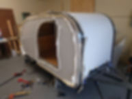 Teardrop camper trailer aluminum