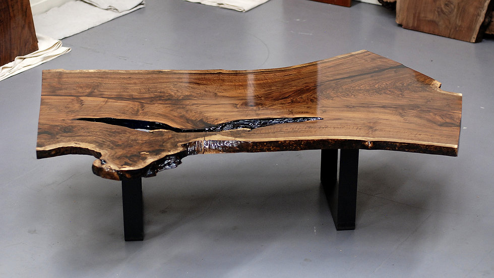 Large Claro Walnut Live Edge- Rare Figure - Over 100 Years Old Reclaimed Local