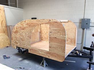 Teardrop camper trailer body
