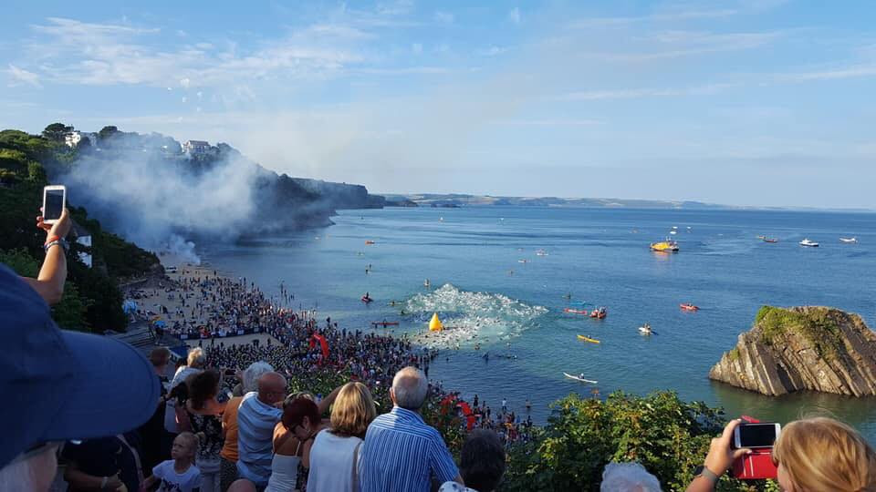 IM Wales, Tenby Swim Start