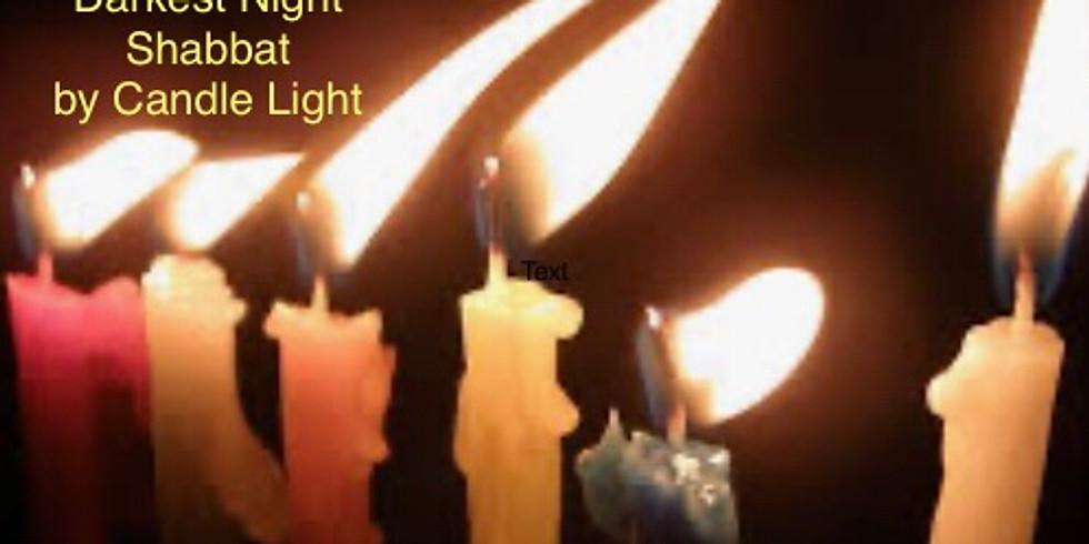 Darkest Night Shabbat by Candle Light
