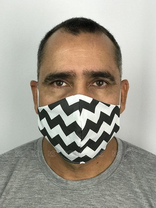 Máscara de proteção / Tecido com elástico - 10 unidades