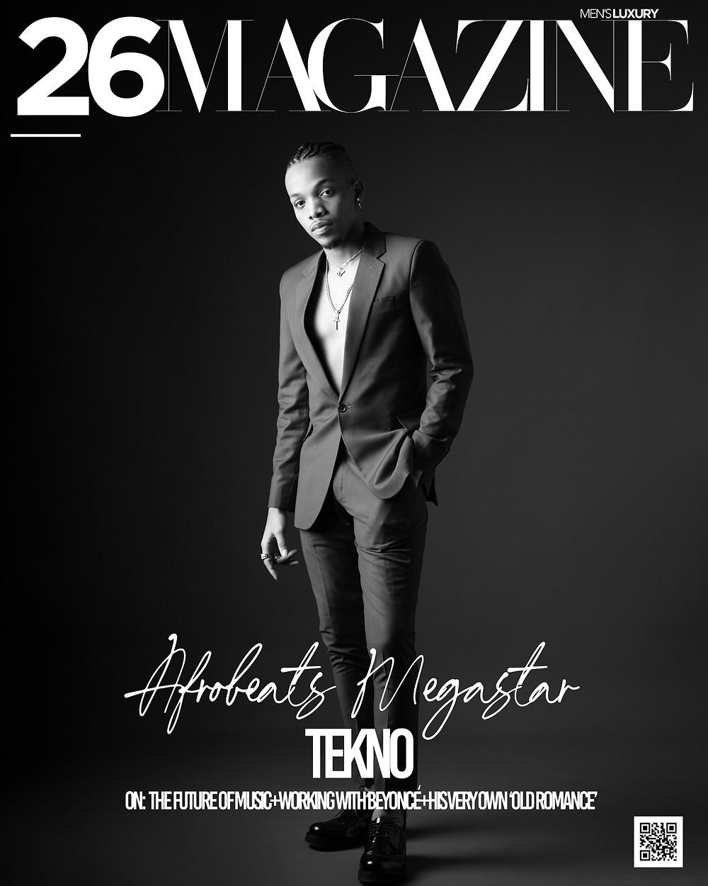 Afrobeats Megastar Tekno Covers 26 Magazine. 26 Men's Luxury Magazine