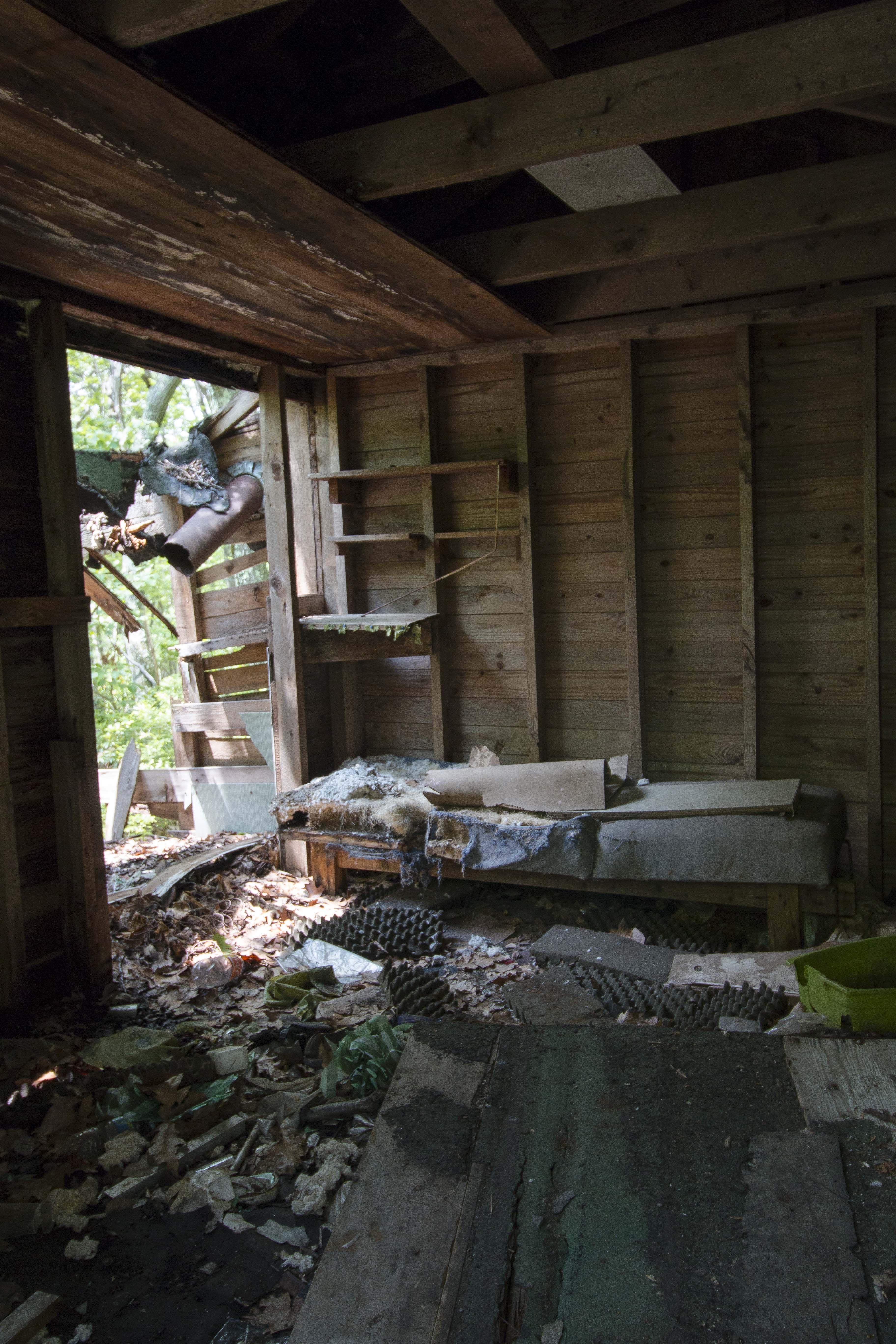 Inside shack 1