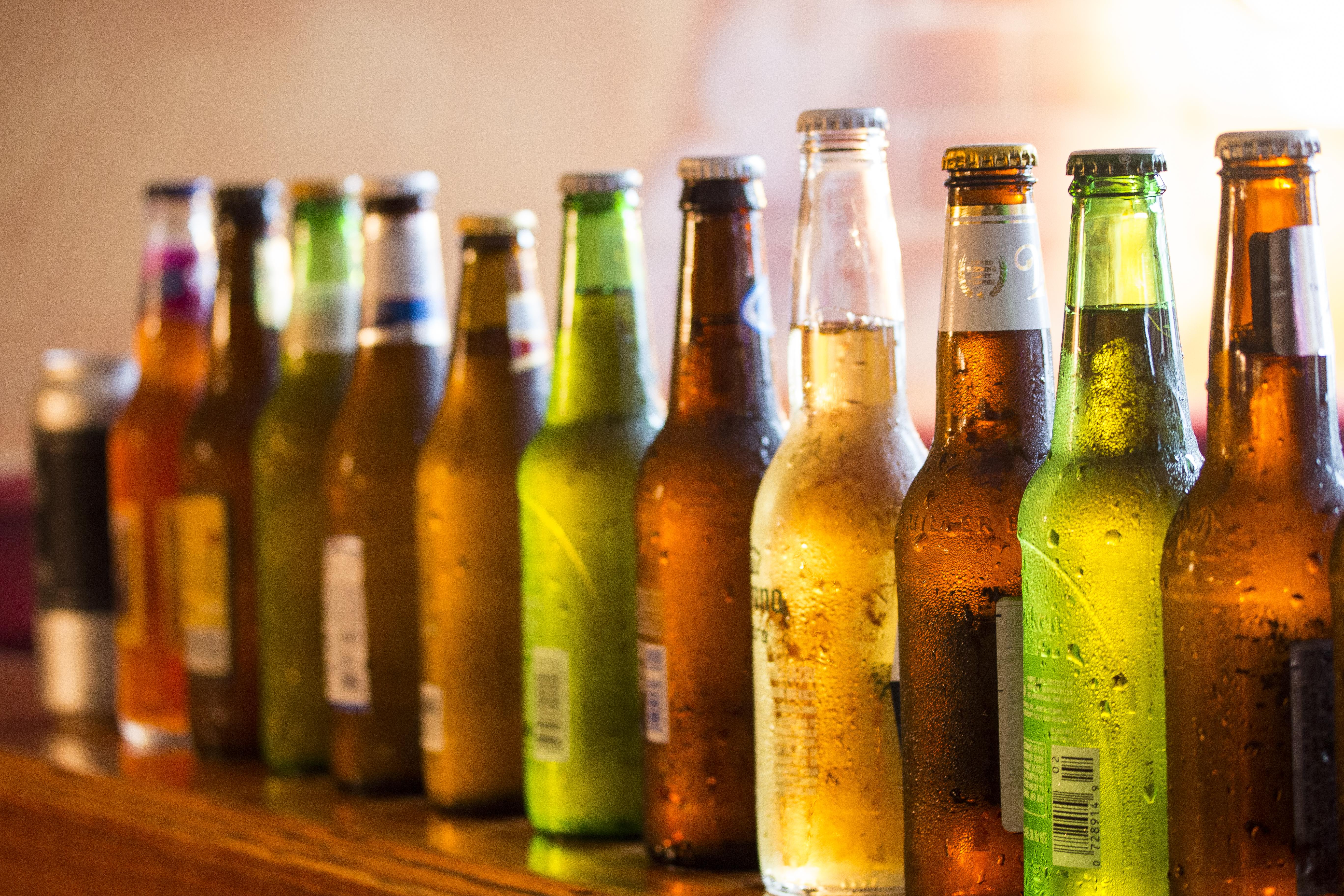 Back of beer bottles-2