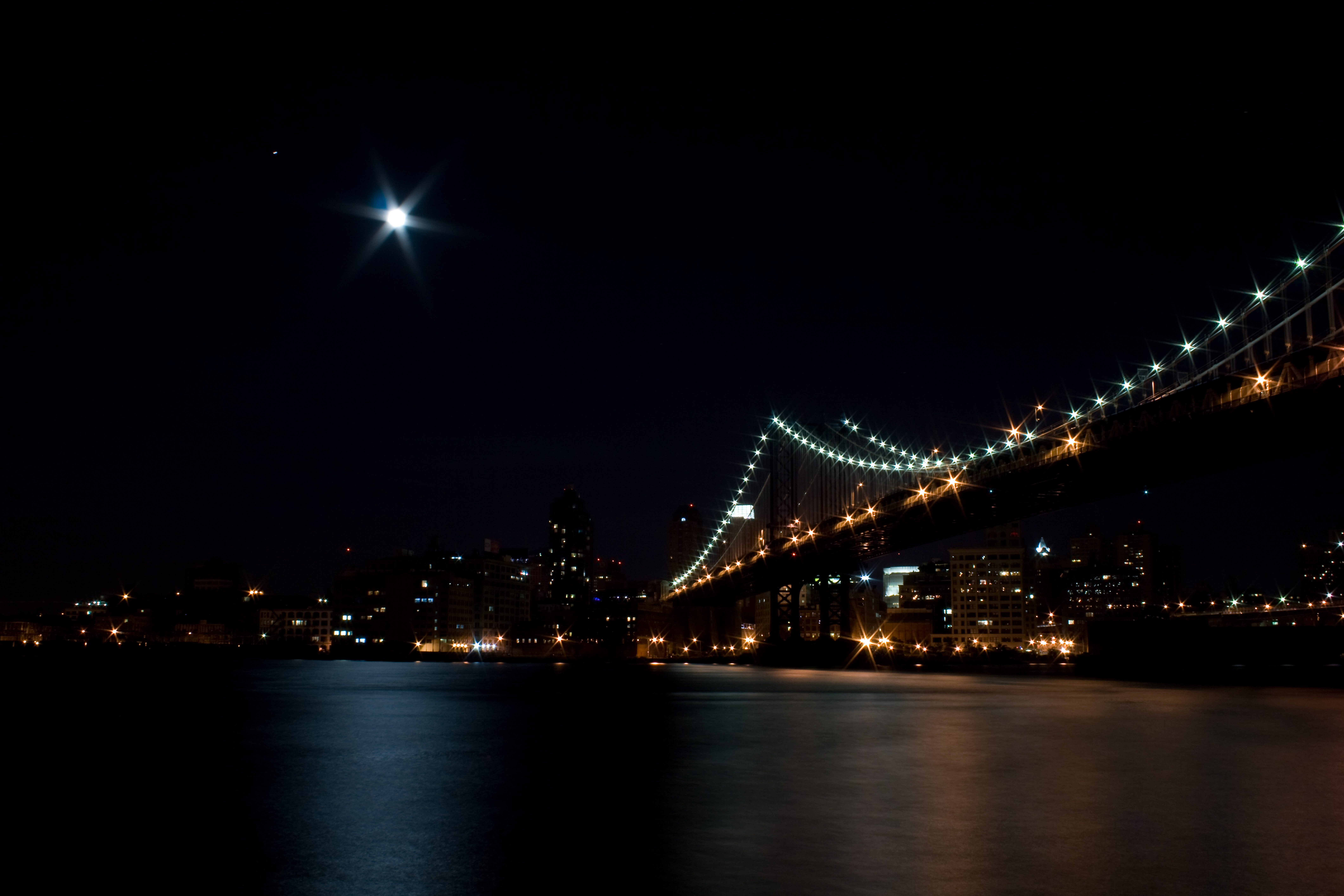 Manhattan Bridge at Night (1)
