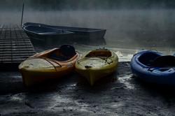 Sunrise Mist with Kayaks 1