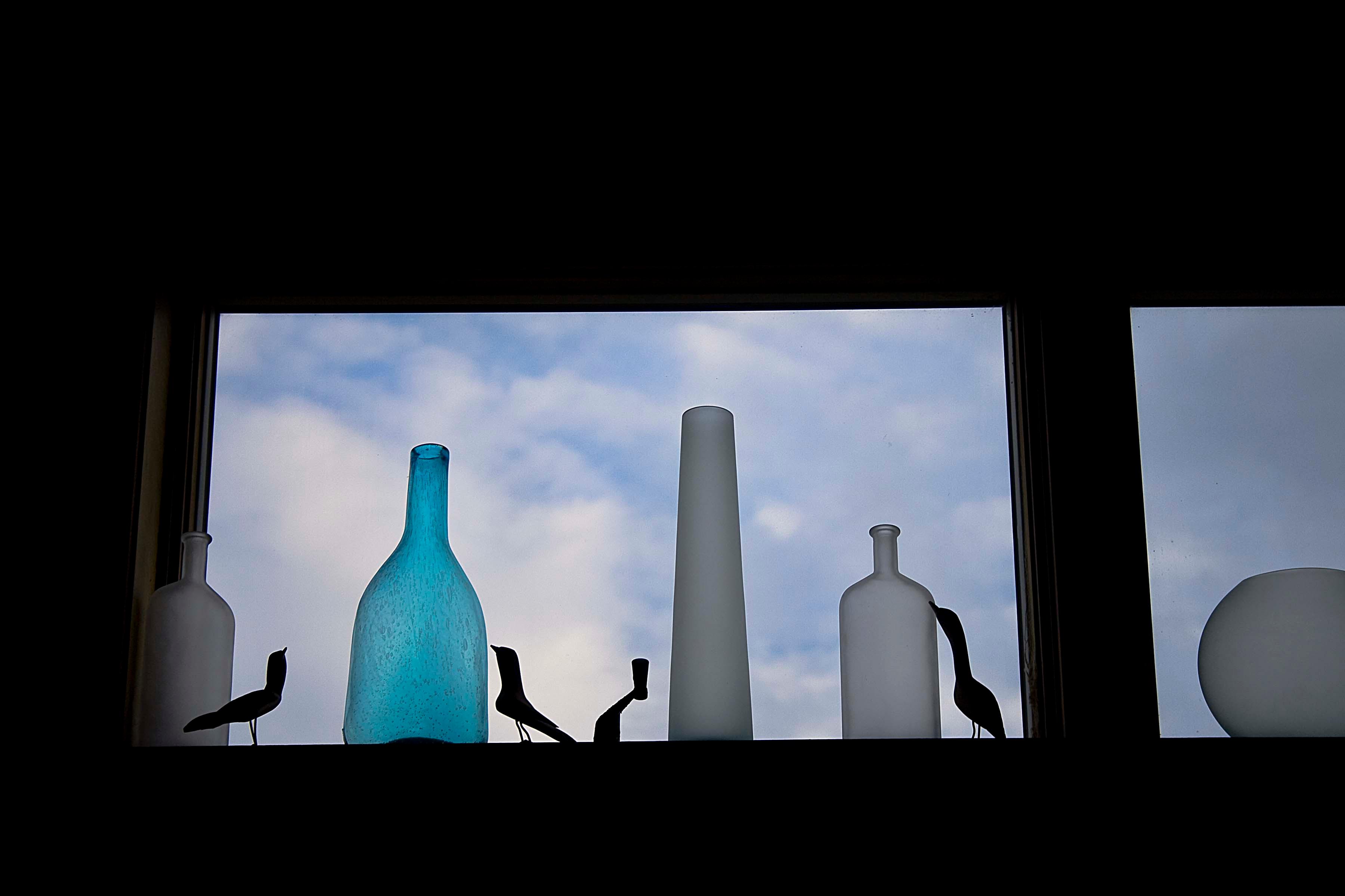 Bottles on the Ledge