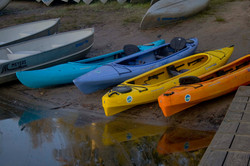 Kayaks by the water 1