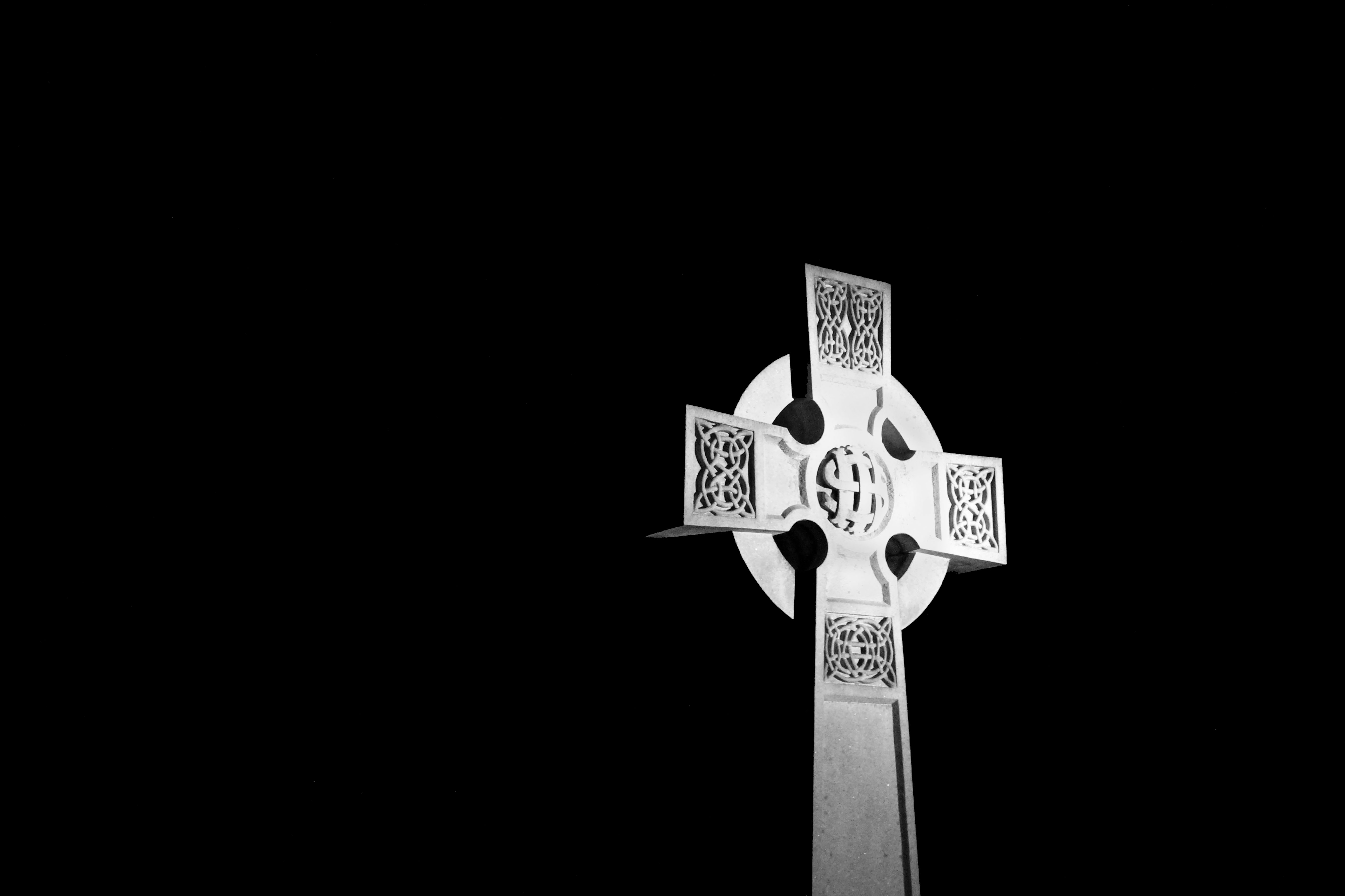 Celtic Cross in the Dark
