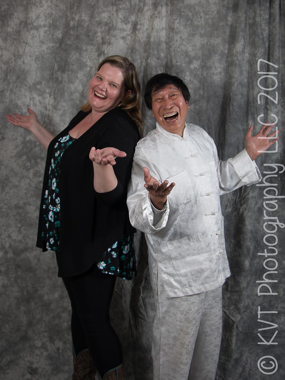 Me and Grandmaster Chi Ling Chiu having a laugh